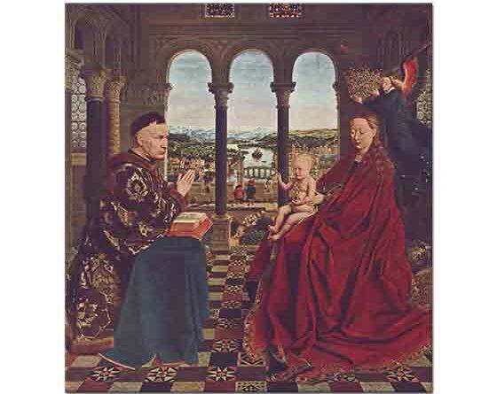 Jan van Eyck Madonna ve Şansölye Rolin