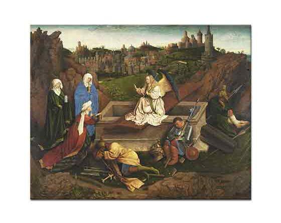 Jan van Eycküç Mary Mezar Başında
