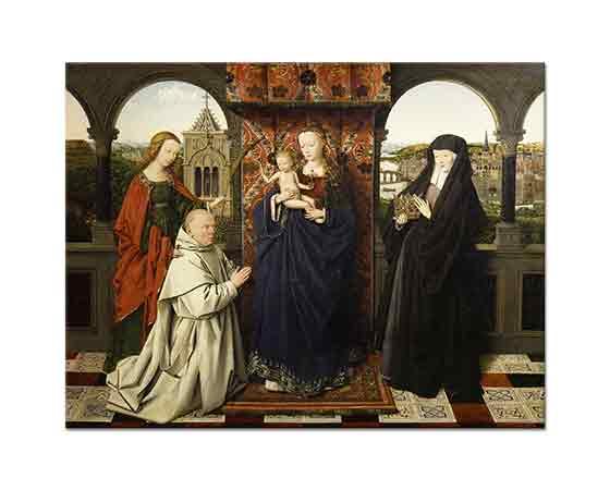 Jan van Eyck Virgin ve Çocuğu, Aziz ve Donör ile