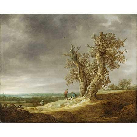 Jan van Goyen Meşe Ağaçlı Manzara