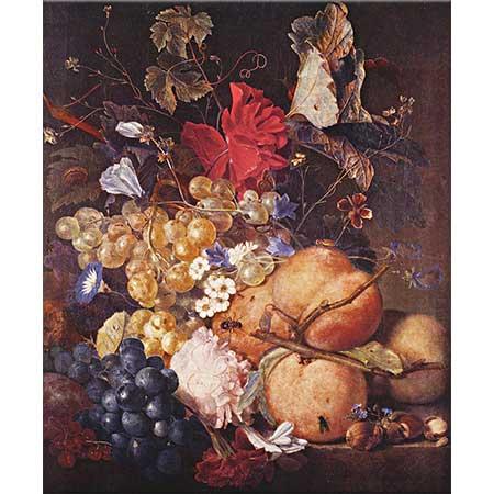 Jan van Huysum Çiçekler ve Meyveler