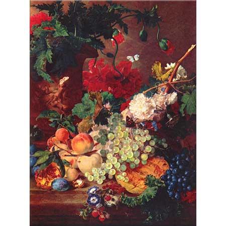 Jan van Huysum Meyve ve Çiçekler