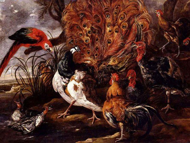 Jan Fyt Kır Manzarasında Kuşlar