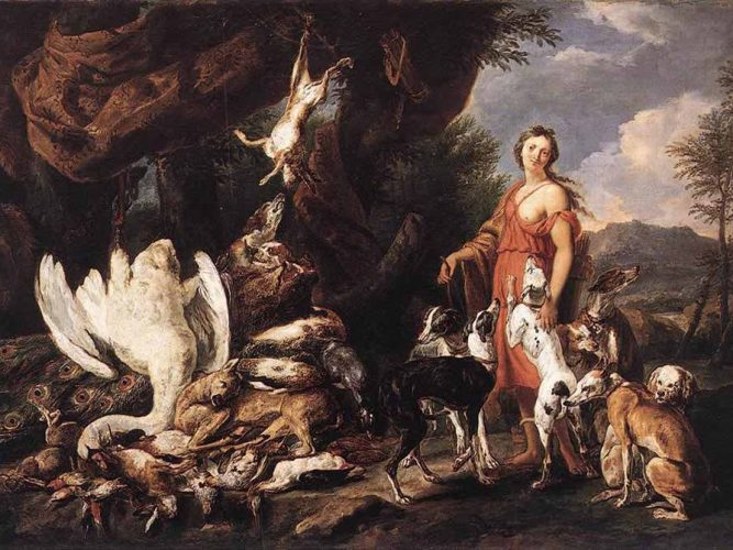 Jan Fyt Diana ve Av Köpeği tablosu