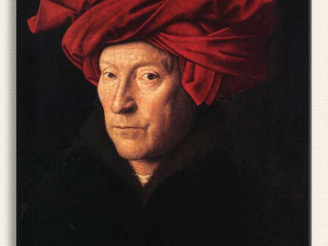 Jan van Eyck Kendi Portresi tablosu