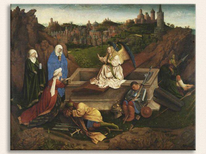 Jan van Eyck üç Mary Mezar Başında
