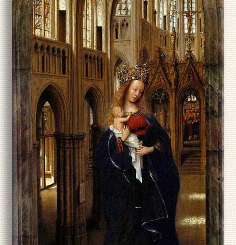 Jan van Eyck Kilisedeki Madonna