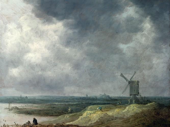 Jan van Goyen Sahilde Değirmen