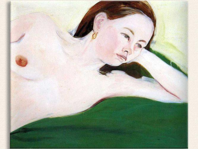 Jane Freilicher Dinlenen Nü tablosu