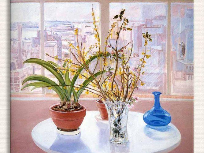 Jane Freilicher Saksı ve Vazo tablosu