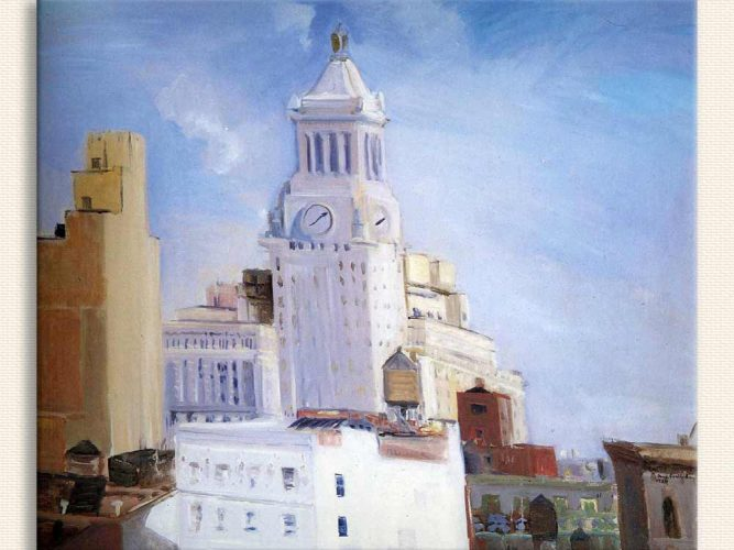 Jane Freilicher Saat Kulesi tablosu