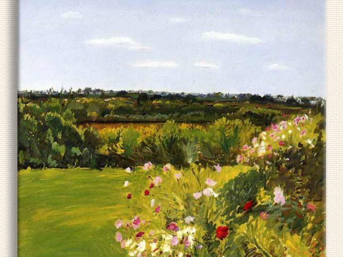 Jane Freilicher Bahçeden tablosu