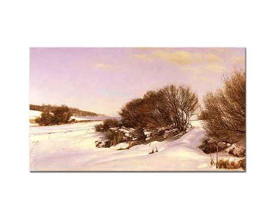 Janus Andreas Bartholin La Cour Göl Kenarında Kış