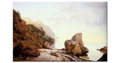 Janus Andreas Bartholin La Cour Sahilde Kayalıklar