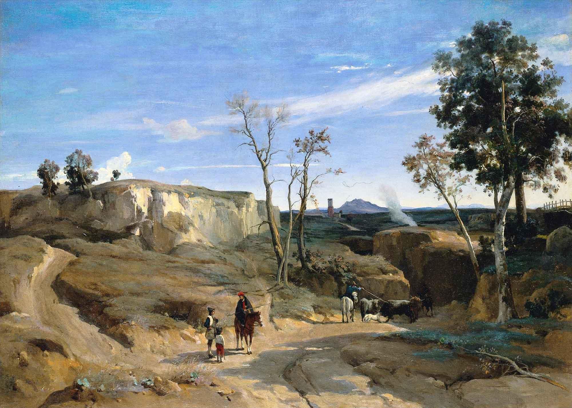Jean Baptiste Camille Corot La Cervara