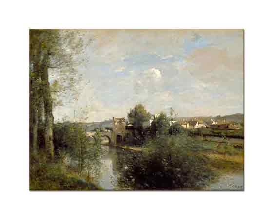 Jean Baptiste Camille Corot Limay Eski Köprü