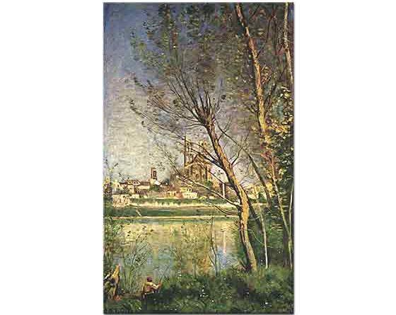 Jean Baptiste Camille Corot Mantes Katedrali