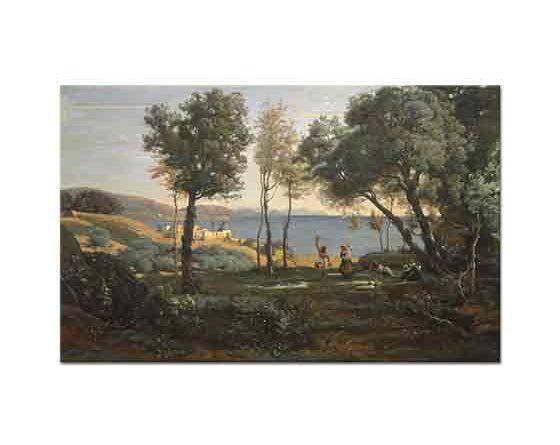 Jean Baptiste Camille Corot Napoli Manzarası