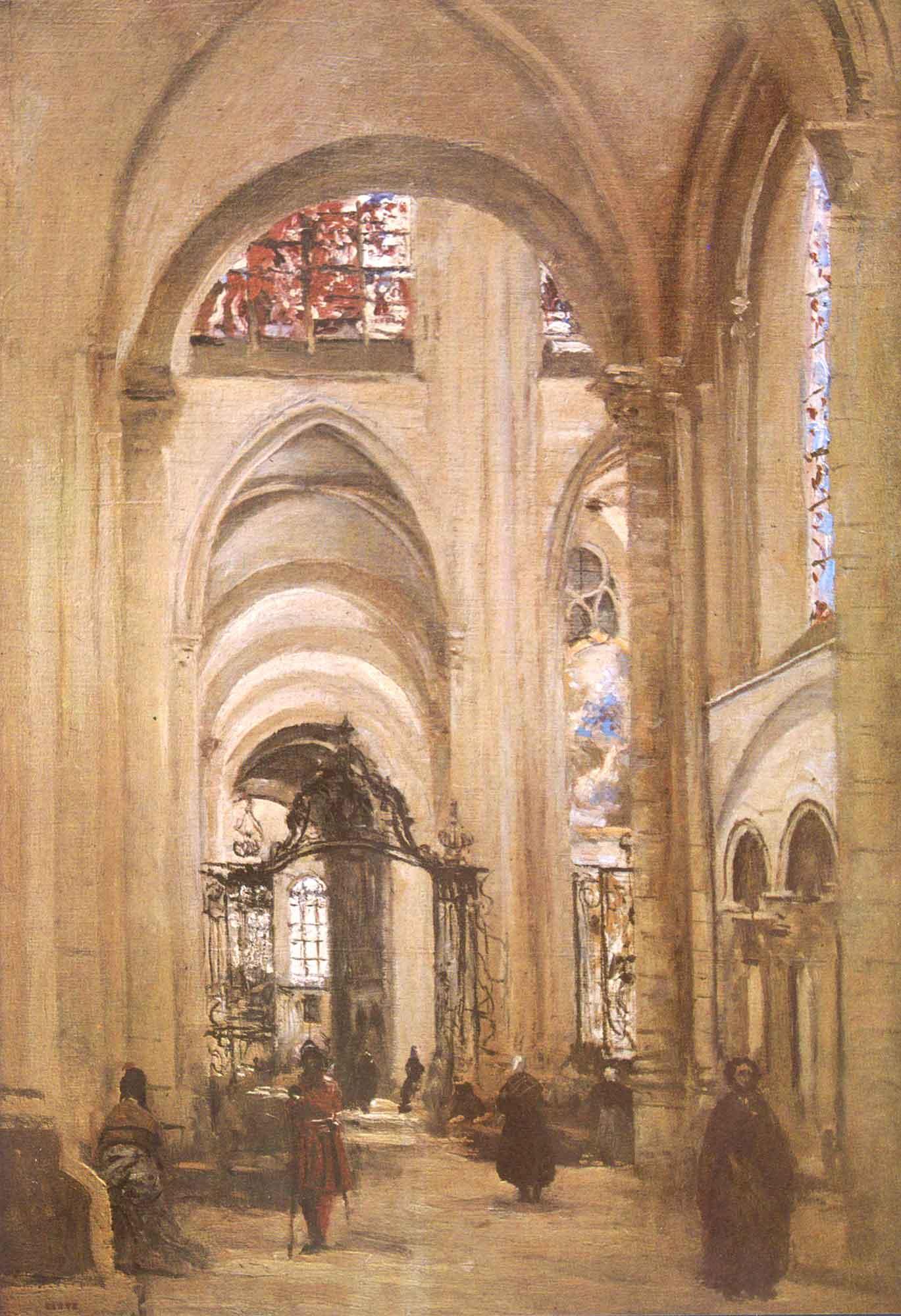 Jean Baptiste Camille Corot Sens Katedrali