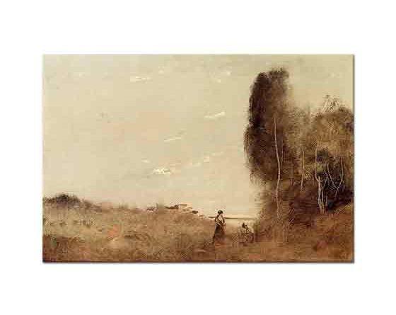 Jean Baptiste Camille Corot Su Kenarında Sabah