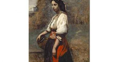 Jean Baptiste Camille Corot Testili italyan Kızı
