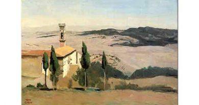 Jean Baptiste Camille Corot Volterra Kilise ve Çan Kulesi