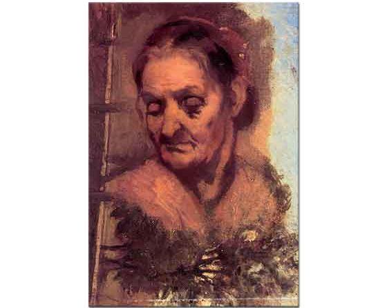 Jean Baptiste Carpeaux Yaşlı Kadın Portresi