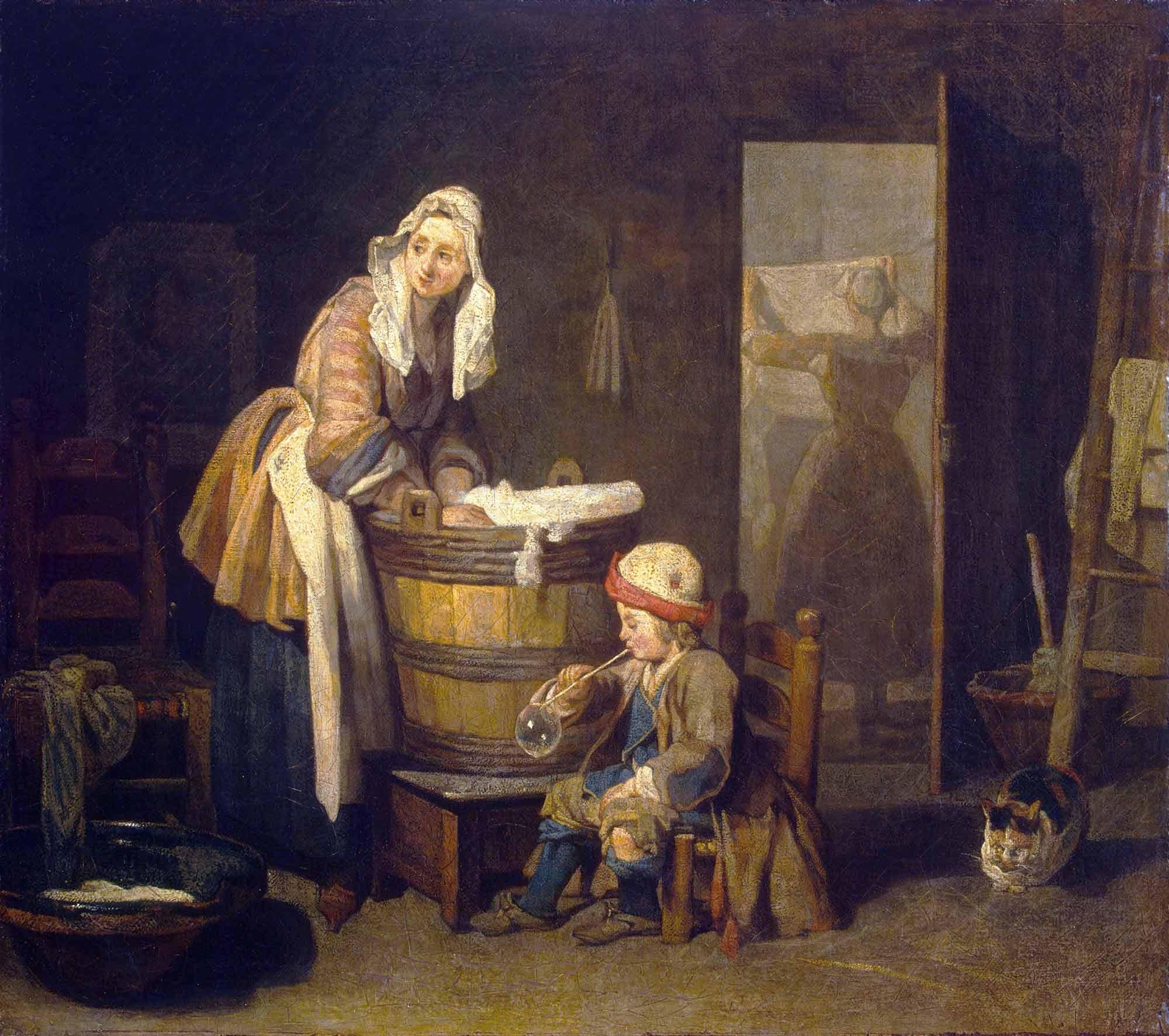 Jean Baptiste Simeon Chardin Çamaşırcı Kadın