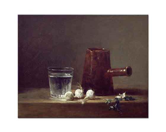 Jean Baptiste Simeon Chardin Cezve ve Su Bardağı