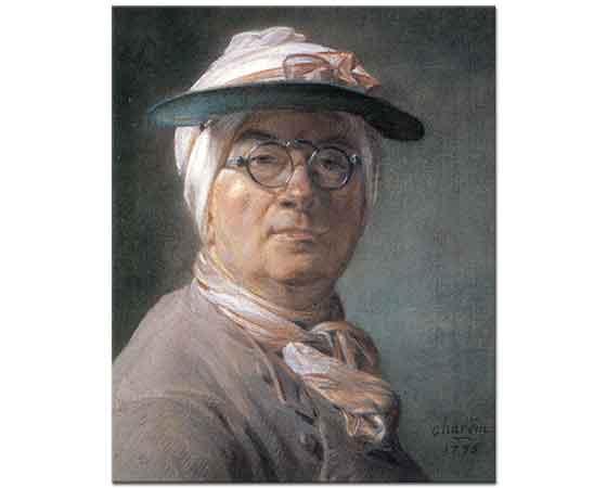 Jean Baptiste Simeon Chardin Gözlüklü Kendi Portresi