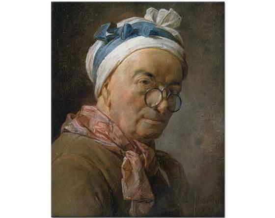 Jean Baptiste Simeon Chardin Gözlüklü Otoportre