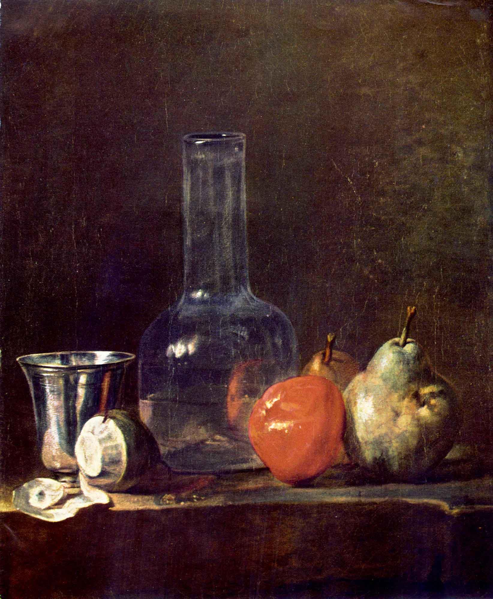 Jean Baptiste Simeon Chardin Gümüş Kadeh ve Meyveli Natürmort