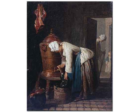 Jean Baptiste Simeon Chardin Kazandan Su alan Kadın