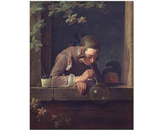 Jean Baptiste Simeon Chardin Sabun Üflerken
