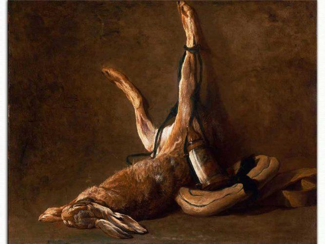 Jean Baptiste Simeon Chardin Tavşanlı Natürmort