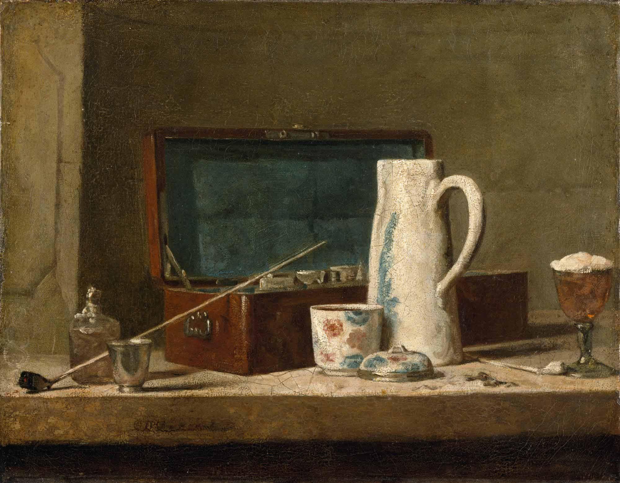 Jean Baptiste Simeon Chardin Testi ve Pipolu Natürmort