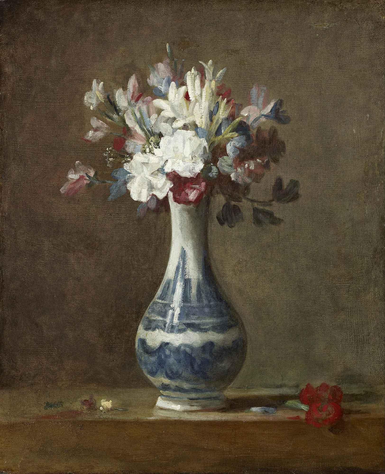 Jean Baptiste Simeon Chardin Vazoda Çiçekler