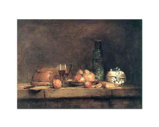 Jean Baptiste Simeon Chardin Zeytin Kavanozlu Natürmort