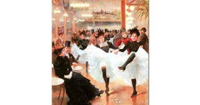 Jean Beraud Paris'te Cafe