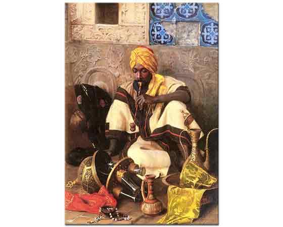 Jean Discart Tütün içen Arap