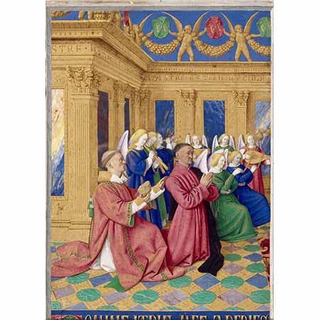Jean Fouquet Etienne Şövalyeleri Aziz Etienne ile