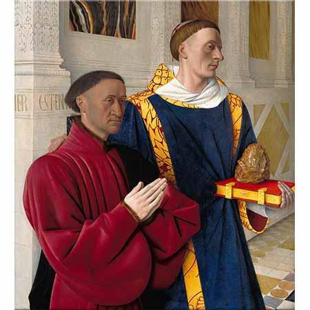 Jean Fouquet Etienne Şövalyeleri Aziz Stephen ile