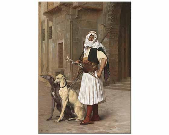 Jean Leon Gerome Kahire'de Arnavut Köpekleri ile
