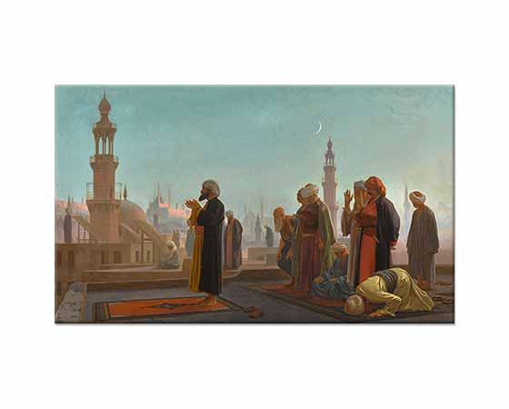 Jean Leon Gerome Kahire'de Namaz Kılanlar