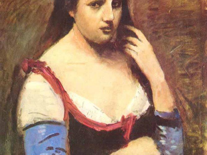 Jean Baptiste Camille Corot Papatyalı Kadın
