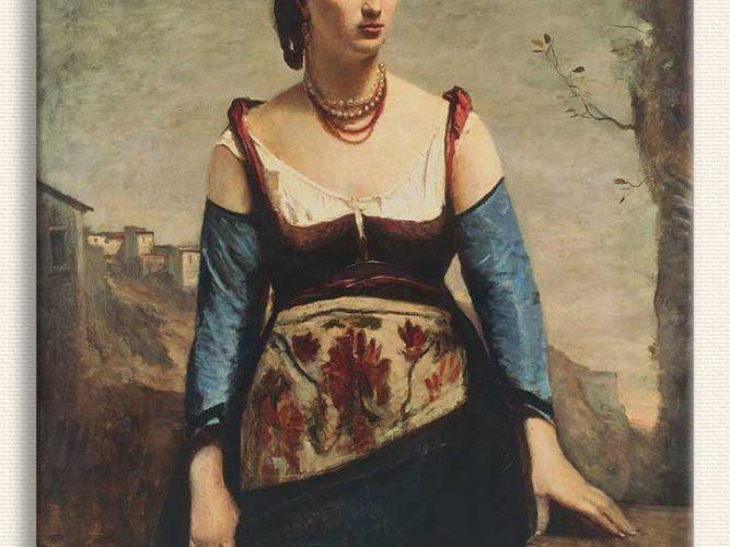 Jean Baptiste Camille Corot Agostina