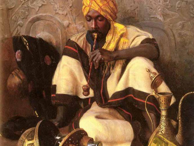 Jean Discart Tütün içen Arap tablosu