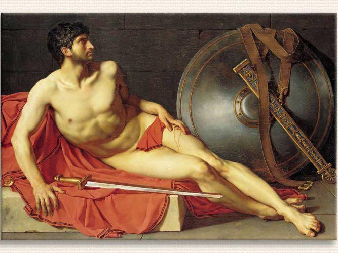 Jean Germain Drouais ölmekte olan Yaralı Roma Askeri
