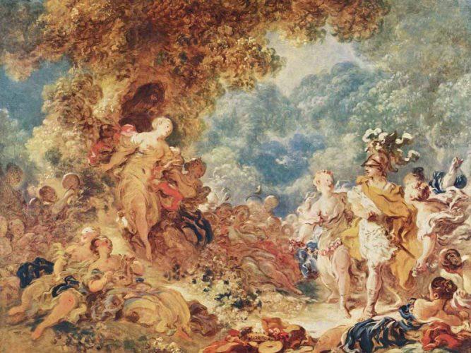 Jean Honore Fragonard Zafer tablosu