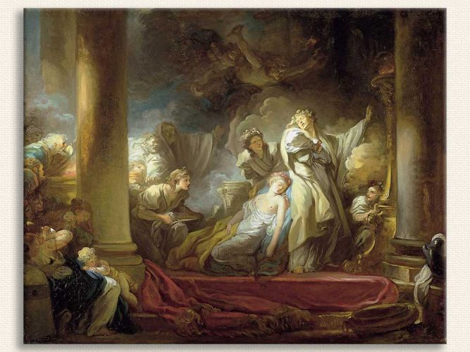 Jean Honore Fragonard Coresus'un Fedakarlığı